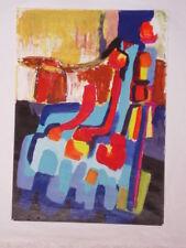 Tableau Le Defile acrylique sur papier 30 cm x 42cm