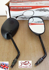 BLACK UNIVERSAL MOTORCYCLE MIRRORS 10MM BIKE / MOTORCYCLE SIDE PAIR REAR VIEW