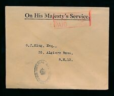 1931 GB Ufficiale ohm BUSTA Imperial War Graves Commission a George King