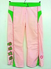 G:SUS pink & green type button up three quarter trousers size 6-8, new with tags