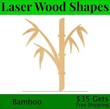 Bamboo Laser Cut Out Wood Shape Craft Supply - Woodcraft Cutout
