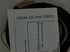 IMPIANTO ELETTRICO ELECTRICAL WIRING MOTO GILERA 125 1950/51+ SCHEMA ELETTRICO