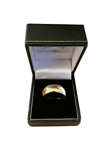 Stunnng Heavy 18ct Solid Yellow Gold Traditional Wide Band Wedding Ring Size T