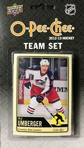 Columbus Blue Jackets 2012 2013 Upper Deck O Pee Chee Factory 18 Card Team Set