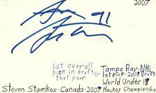 Steve Stamkos Tampa Bay Nhl Hockey Autographed Signed Index Card Jsa Coa
