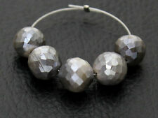 Natural Australian Grey Moonstone Faceted Round Ball Gemstone Beads 7.5-8mm.