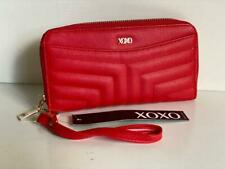 NEW! XOXO HUGS & KISSES RED CLUTCH WALLET WRISTLET PURSE SALE