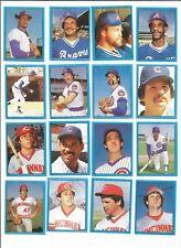 1982 O-Pee-Chee Baseball Sticker Ron Oester #34 Cincinnati Reds *MINT*