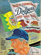 1966 WORLD CHAMPIONS LOS ANGELES DODGERS SOUVENIR YEARBOOK WALT ALSON KOUFAX +