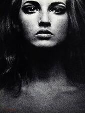 1967 Vintage Surreal FEMALE FACE Eyes Woman Photo Gravure Art SAM HASKINS 16x20