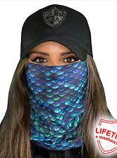 SA MERMAID SCALES Face Shield Mask Balaclava Head band Beanie Bandana do rag