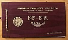 Mexico 1938, 25th Anniv Plan of Guadalupe presentation book: 2 mint sets & check