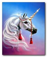 Mythical Unicorn Young Prince Horse Fantasy Wall Decor Art Print Poster (16x20)