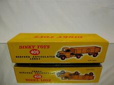 DINKY TOYS 409 BOX for BEDFORD ARTICULATED LORRY - YELLOW - GOOD - ONLY BOX