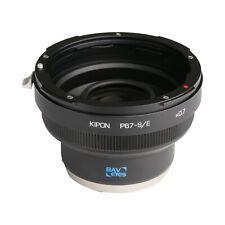 Kipon Adapter Focal Reducer Speedbooster for Pentax 67 Lens to Sony E Camera NEX