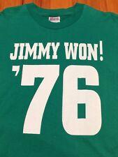 VTG Jimmy Carter T-Shirt - Folk Play - Plains Georgia President - Large Green