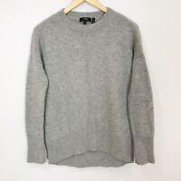 THEORY Women's XS (P) Gray Crewneck 100% CASHMERE Karenia Sweater