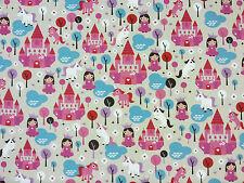 Principessa Felice Lino t39 per bambini tessuto per tende cucito artigianato Fairytale