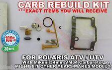 CARBURETOR CARB REBUILD KIT MAIN PILOT JET NEEDLE 02 03 POLARIS TRAIL BLAZER 400