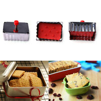 Tools Pressed Fondant Cake Mold Cookie Cutter Plunger Mould Biscuit Rectangle