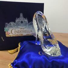 Disney Cinderella Glass Slipper Blue Cushion Set Telegram Limited Japan F/S USED