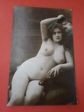 Risque erotic postcard genuine original French colour tinted RP