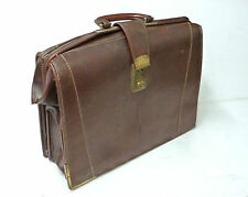 Vintage Doctors Brown Leather Gladstone Bag Briefcase