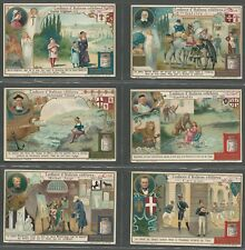LIEBIG - THE CHILDHOOD OF GREAT ITALIANS  - FULL ORIGINAL SET OF 6 FROM 1912