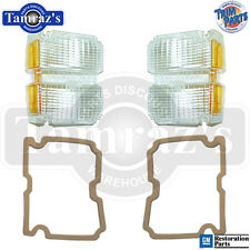 71 El Camino Parking Turn Light Lamp Lens w/ Gaskets PAIR Made in USA New
