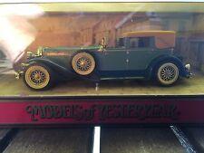 "Duesenberg Mode ""J"" 1930 Matchbox Diecast model scale 1:43 from 1990"