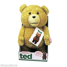 "Seth MacFarlane Film TED Parlante 16"" 40cm Talking Plush Sound and Moving Mouth"