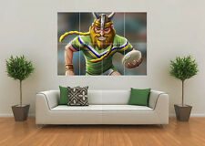 CANBERRA RAIDERS INSPIRED RUGBY LEAGUE NRL MASCOT GIANT WALL ART POSTER PRINT