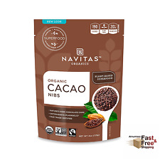 NEW 4 Oz Nature's Dark Chocolate Chip, Navitas Organics Cacao Nibs, Gluten-free