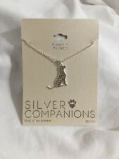 SILVER COMPANIONS Dog Necklace Canine Always in My Heart
