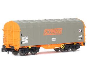 MU N-G35042 - Güterwagen Planenhaubenwagen Shimms Sogetank Ep.VI - Spur N - NEU