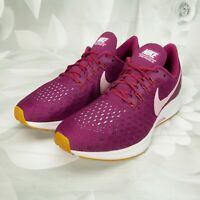 Nike Womens Zoom Pegasus 35 Athletic Running Sneaker Shoes Size 8M Lace-Up Berry