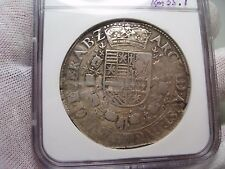 (1612-21) Spanish Netherlands Brabant/Antwerp 1Patagon. Albert/Isabel. NGC VF25
