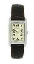 Caravelle by Bulova 43L114 Women's Rectangular Cream Analog Brown Leather Watch