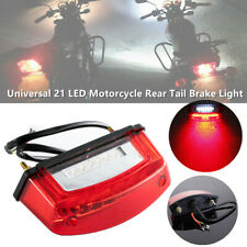 21LED Motorcycle Scooter Rear Tail Brake Light License Plate Lamp Bulb Red White