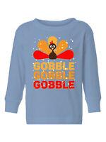 Thanksgiving Toddler Long Sleeve Shirt for Boys Girls Gobble Turkey Kids T-Shirt