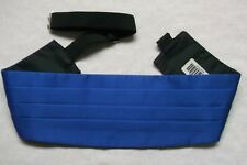 Cummerbund Mens Pleated Vintage Retro 1990s Sash ROYAL BLUE