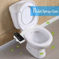 Bathroom Bidet Toilet Seat Attachment Water Spray Clean Kit T-connector US