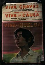 Viva Chavez Original Vintage Poster Theatre Memorable Paul Davis 1960's Politi