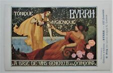 TONIQUE BYRRH Ladies Drinking on Fine French Poster-style Advertising Postcard