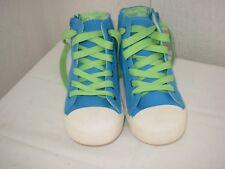 Baskets bleu/vert P.28 NEUVES Mixte
