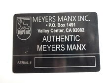 Nameplate Meyers Manx Buggy id-plate PLACCA Plaque Du Constructor S8