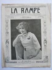 Melle Annie WARLEY REVUE la RAMPE THEATRE CONCERT MUSIC-HALL  n° 92 1917