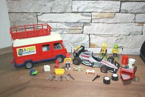 Playmobil Racing Goodyear Werkstattwagen Formel 1 Figuren und Zubehör