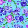 Timeless Treasures Wild Meadow Digital by Chong-A Hwang CD7071 Blue Iris
