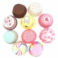 100x Mini Cupcake Liner Papier Kuchen Backen Cup Muffin Cases Weihnachten Wendin